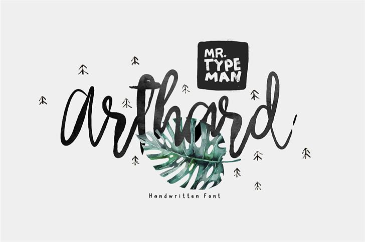 Arthard font by Mr. Typeman