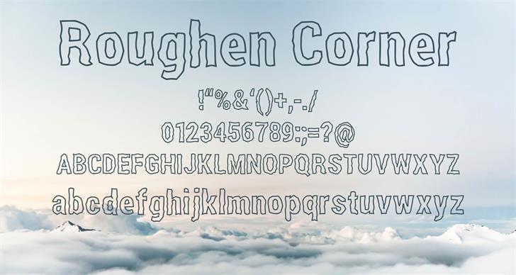 Roughen Corner font by Hardik