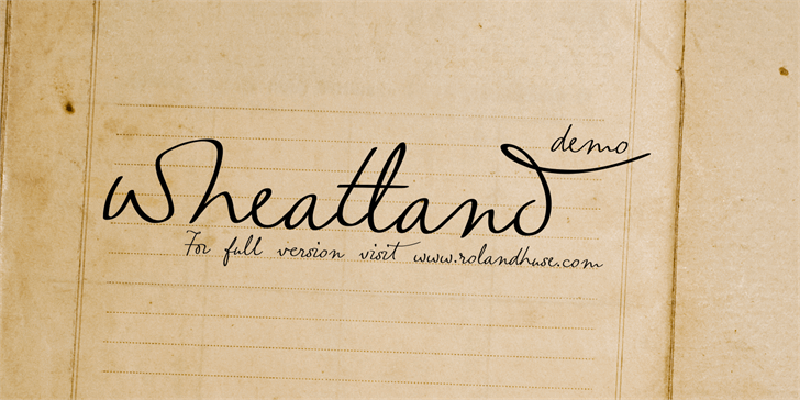 wheatland-demo font by Roland Huse Design