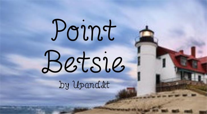 PointBetsie font by UpandIt