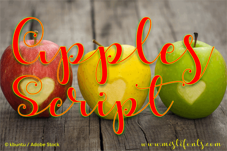 Apples Script Demo font by Misti's Fonts