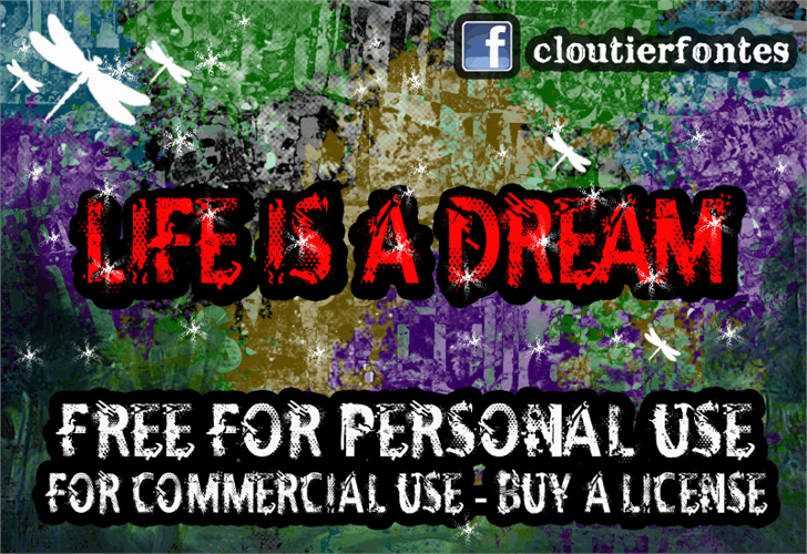 CF Life Is A Dream font by CloutierFontes