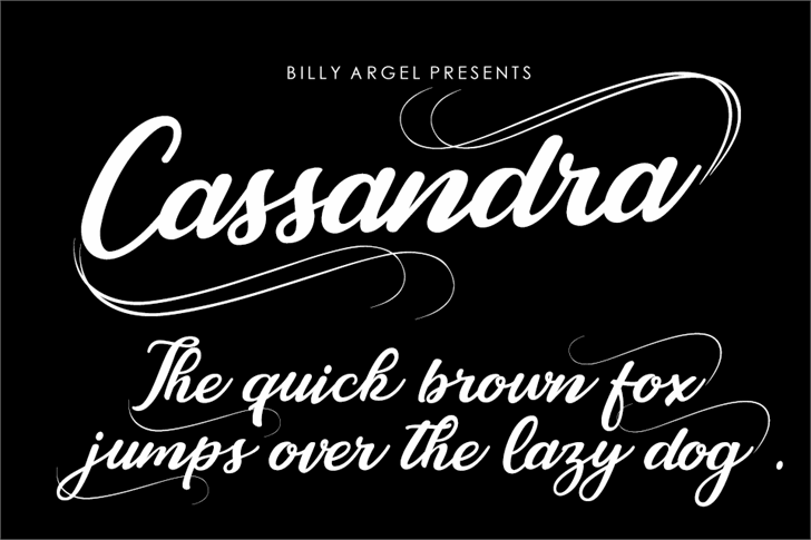 Cassandra Personal Use font by Billy Argel