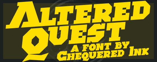 Altered Quest font by Chequered Ink