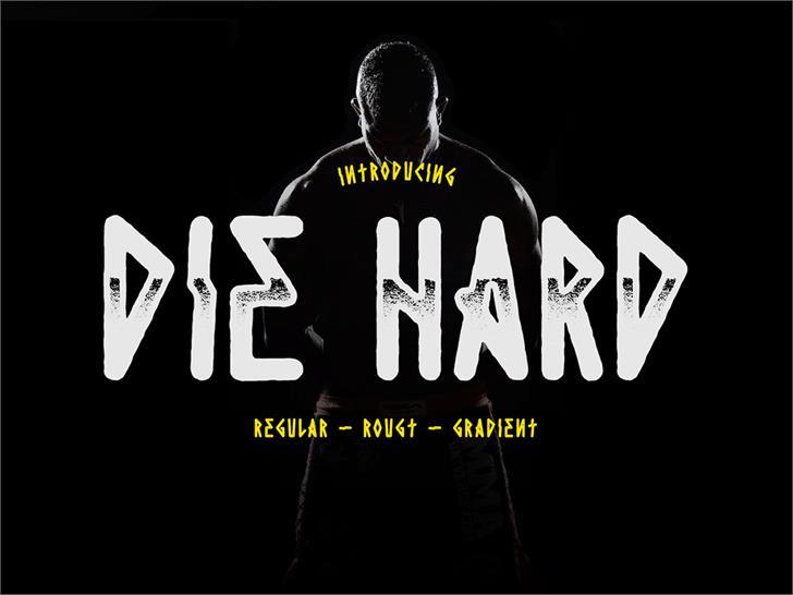 Die Hard font by madeDeduk