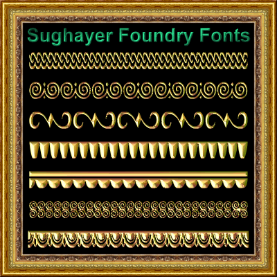Vintage Borders_015 font by Sughayer Foundry