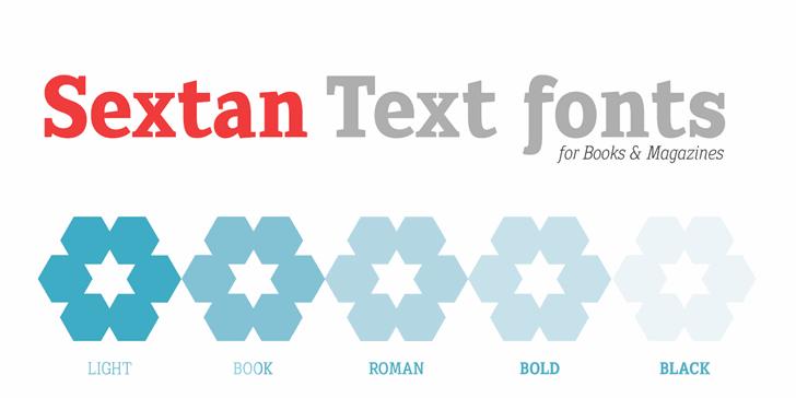 Sextan Roman font by deFharo