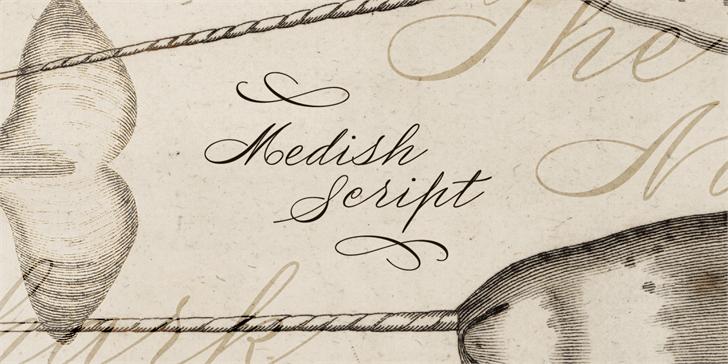 Medish Deco PERSONAL USE ONLY font by Måns Grebäck