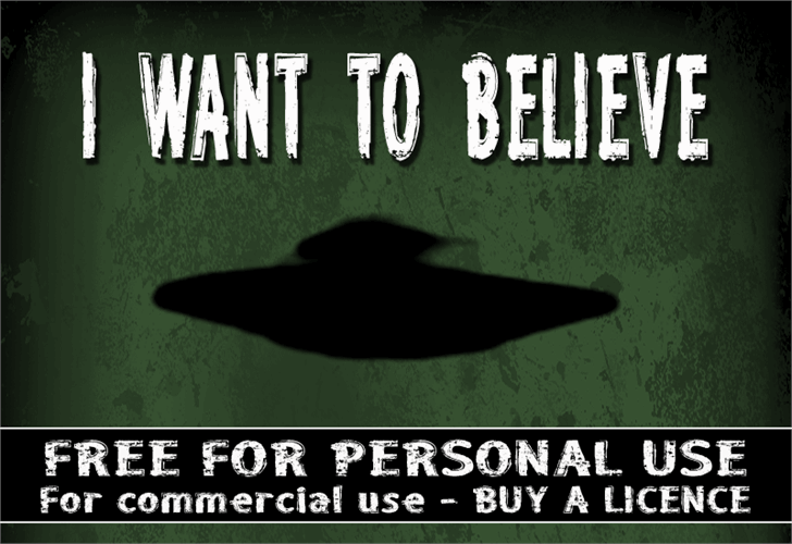 CF I want to believe Comp font by CloutierFontes