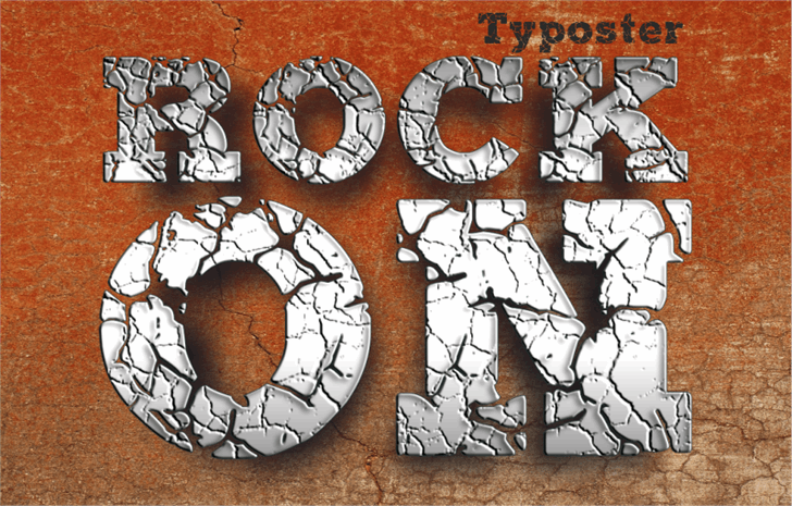 ROCK-ON Demo font by studiotypo