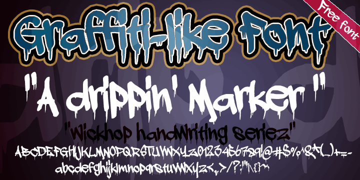 a dripping marker font by wickhop
