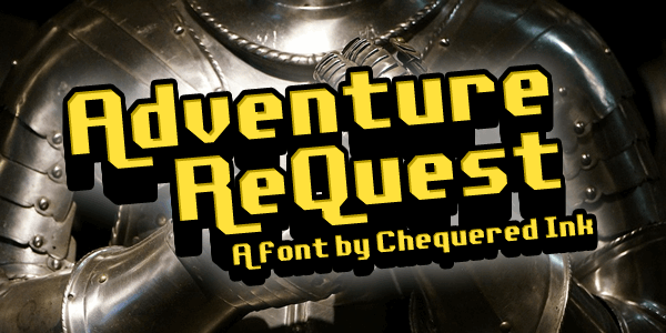 Adventure ReQuest font by Chequered Ink