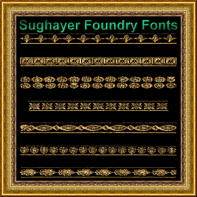 Vintage Borders_011 font by Sughayer Foundry