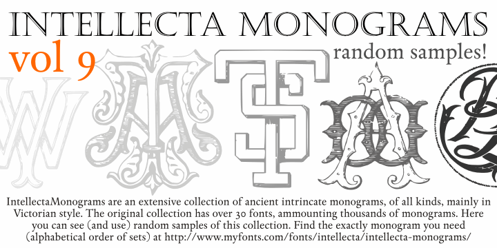 Intellecta Monograms Random Nine font by Intellecta Design