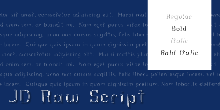 JD Raw Script font by Jecko Development