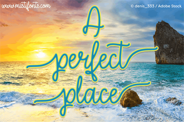 A Perfect Place font by Misti's Fonts