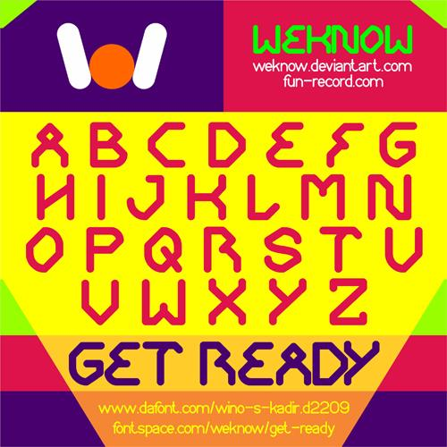 GET READY font by weknow