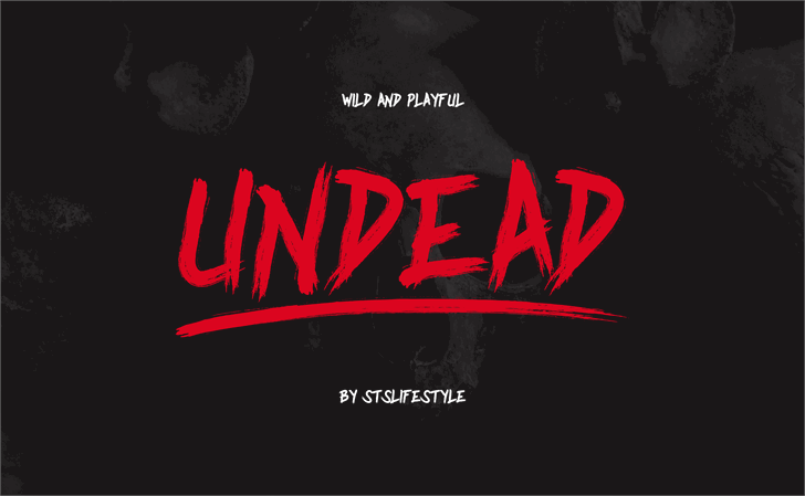 Undead font by stslifestyle