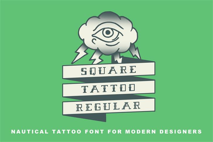 Square Tattoo Demo font by Out Of Step Font Company