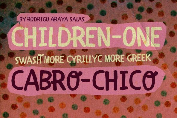 CHILDREN-ONE  font by RASDESIGN