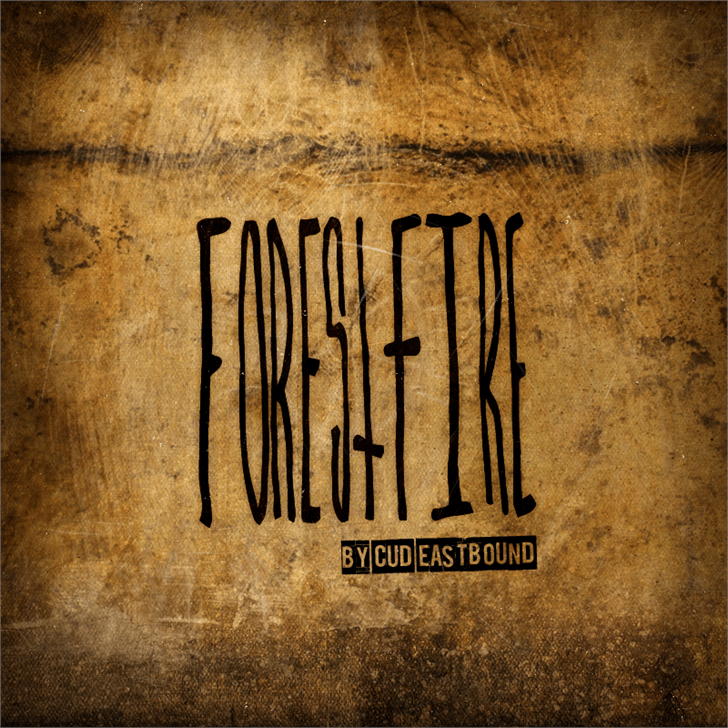 ForestFire font by Cud Eastbound