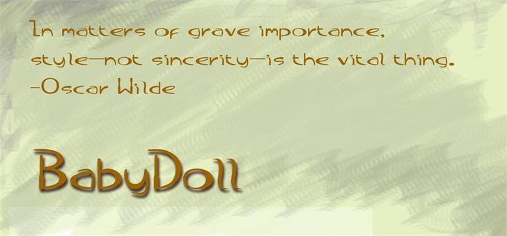 BabyDoll font by moonmoth design