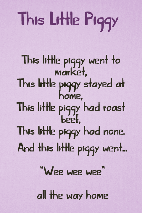 This Little Piggy font by David Kerkhoff