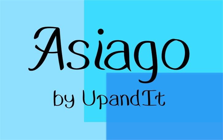 Asiago font by UpandIt