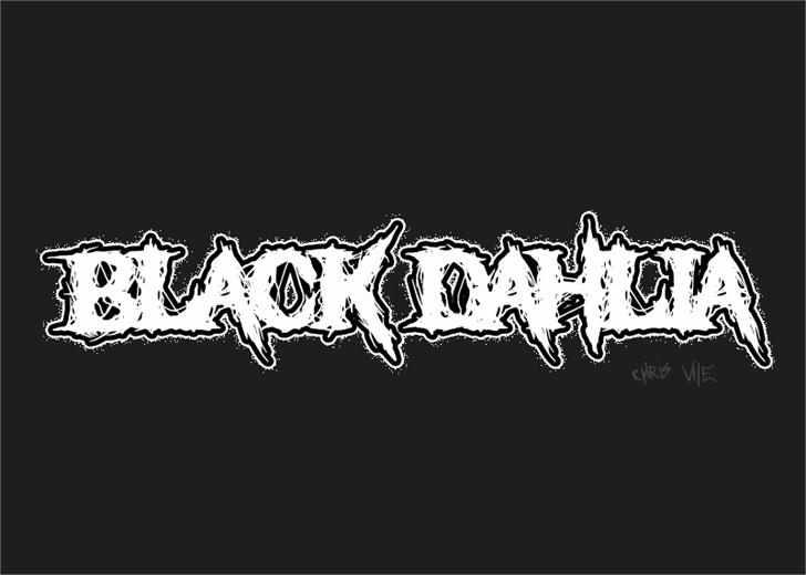 Black Dahlia font by Font Monger