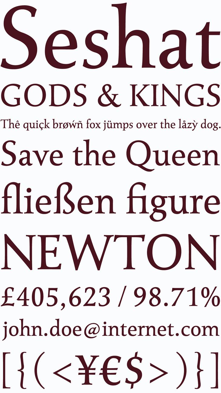 Seshat font by arro