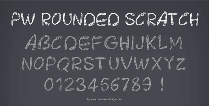 PWRoundedScratch font by Peax Webdesign