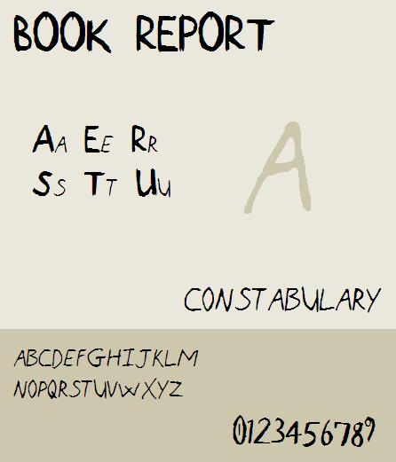 Book Report NBP font by total FontGeek DTF, Ltd.