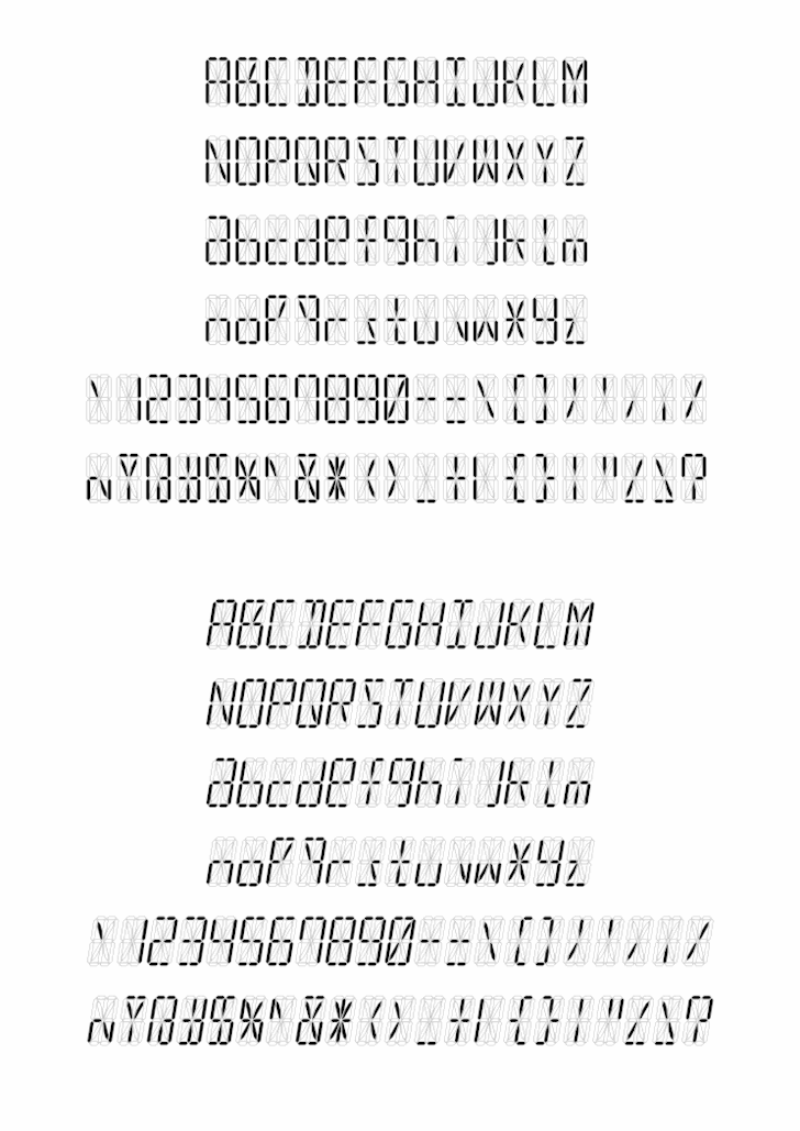 led16sgmnt font by alisaptamarza