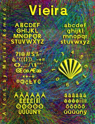 Vieira font by Matias Romero