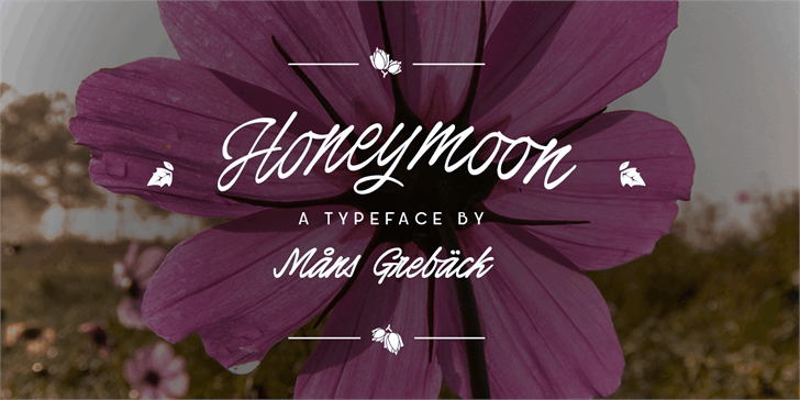 Honeymoon PERSONAL USE font by Måns Grebäck