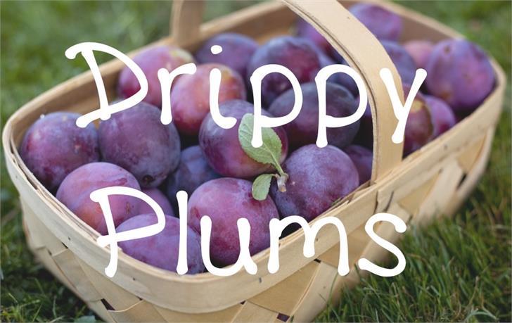 DrippyPlums font by UpandIt