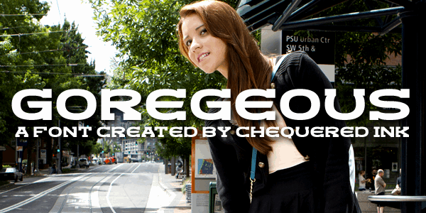 Goregeous font by Chequered Ink