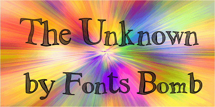 The Unknown (uncomplete_version font by Fonts bomb
