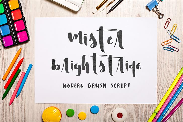 Mister Brightstride Demo font by Out Of Step Font Company