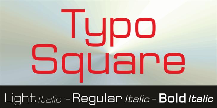 Typo Square Bold Demo font by studiotypo