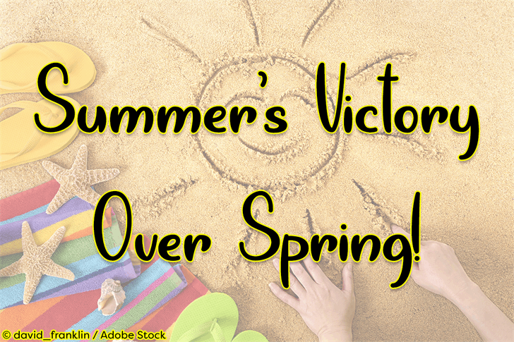 Summers Victory Over Spring font by Misti's Fonts