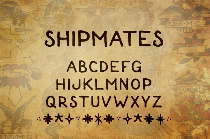 Shipmates font by Out Of Step Font Company