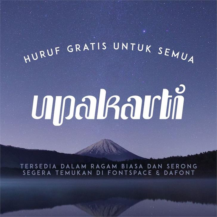 Upakarti font by Gunarta