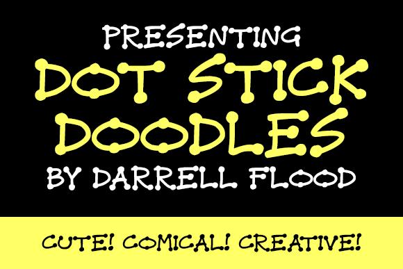 Dot Stick Doodles font by Darrell Flood