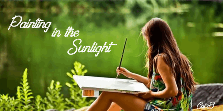 Painting in the Sunlight font by Foundmyfont Studio Typeface LTD