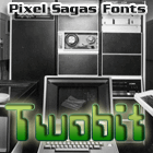 Twobit font by Pixel Sagas