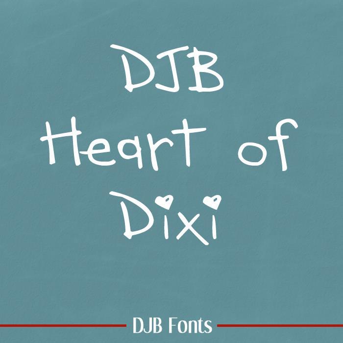 DJB HEART OF DIXI font by Darcy Baldwin Fonts