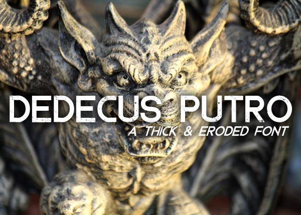 Dedecus Putro font by Font Monger