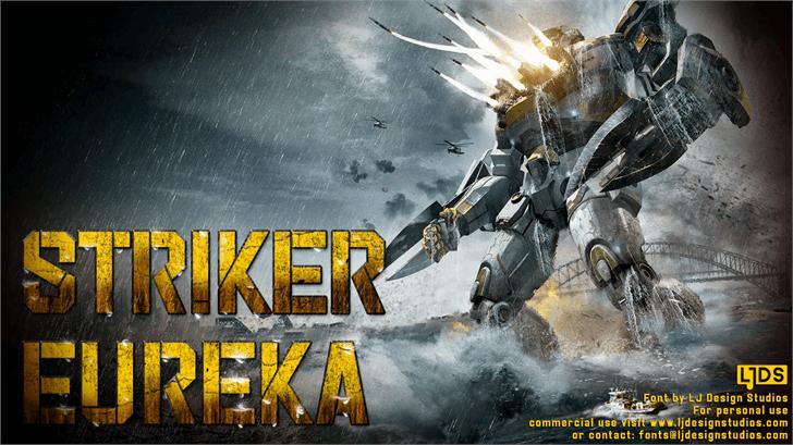 Striker Eureka PERSONAL USE font by LJ Design Studios