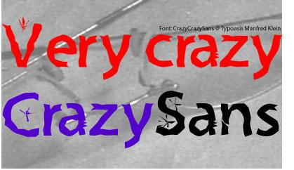 Crazy Crazy Sans font by Manfred Klein
